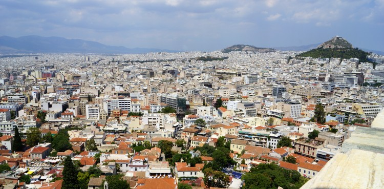 From the top of Athens, Greece