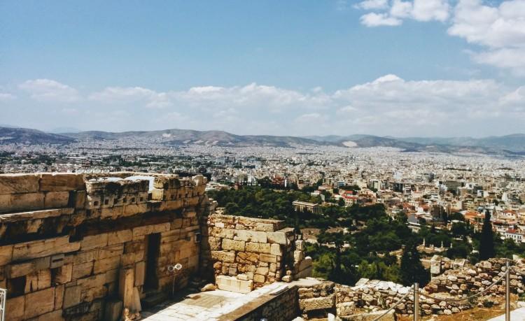 Bottom steps of the Acropolis