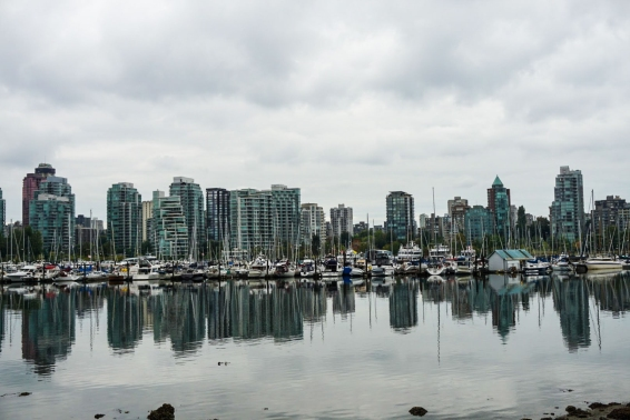 View from biking the Sea Wall at Stanley Park