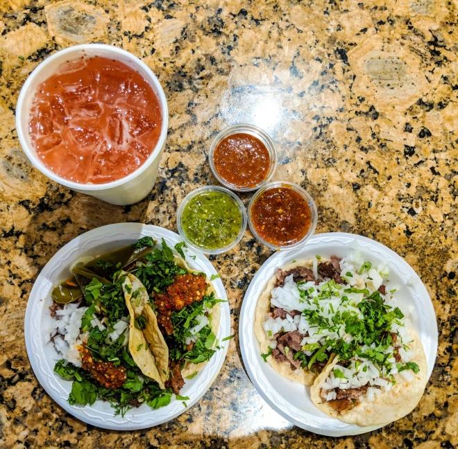 Tacos at Tacqueria 2 Portrillos