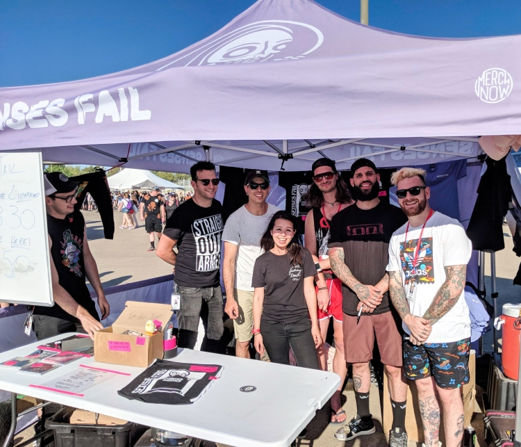 Senses Fail at Warped Tour