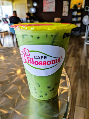 Blueberry Matcha with Crystal Boba