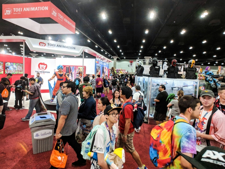 Exhibit Hall at Anime Expo 2018