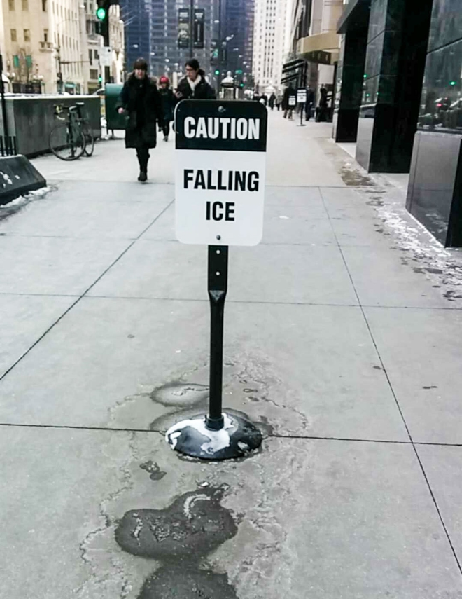 Caution: Falling Ice